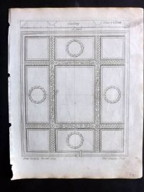 Langley 1777 Antique Architectural Print. Ceiling 173